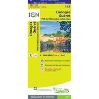 IGN Fietskaart 147 Limoges - Guéret Limousin