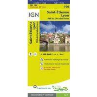 IGN Fietskaart 149 Lyon - St-Étienne