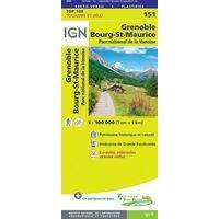 IGN Fietskaart 151 Grenoble - Bourg-St-Maurice