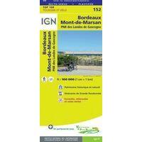 IGN Fietskaart 152 Bordeaux - Mont-de-Marsan