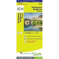 IGN Fietskaart 153 Périgueux -Bergerac Périgord