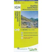 IGN Fietskaart 155 Aurillac St-Flour Auvergne