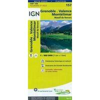 IGN Fietskaart 157 Grenoble Montélimar Vercors Drôme