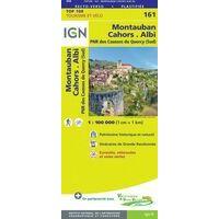 IGN Fietskaart 161 Montauban - Cahors - Albi