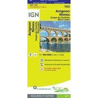 IGN Fietskaart 163 Avignon - Nîmes Cevennen