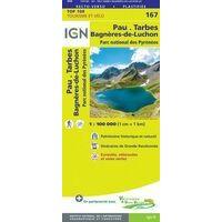 IGN Fietskaart 167 Pau - Tarbes - Bagnères-de-Luchon