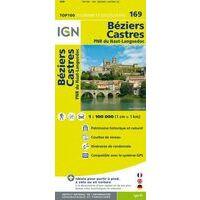 IGN Fietskaart 169 Béziers Castres Haut-Languedoc