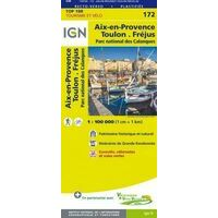 IGN Fietskaart 172 Toulon Aix-en-Provence Calanques