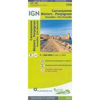 IGN Fietskaart 174 Béziers Perpignan Roussillon