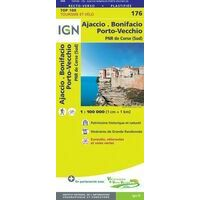 IGN Fietskaart 176 Ajaccio Bonifacio Corsica-Zuid GR20