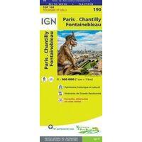 IGN Fietskaart 190 Parijs Chantilly Fontainebleau