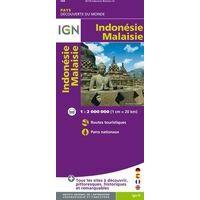 IGN Indonesie / Maleisie Wegenkaart 1:2m