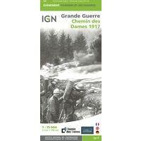 IGN Kaart Chemin Des Dames 1917