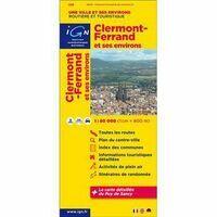IGN Toeristische Wegenkaart Clermont-Ferrand & Omgeving