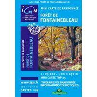 IGN Minikaart 2417ot Fontainebleau 1:25.000