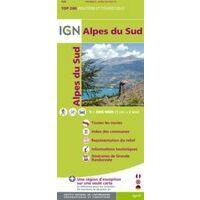 IGN Toeristische Wegenkaart Alpes Du Sud