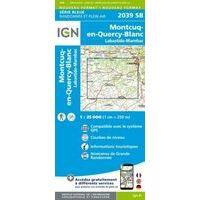 IGN Topografische Kaart 2039SB Montcuq-en-Quercy-Blanc