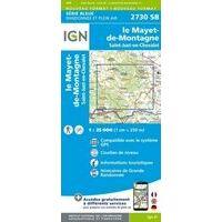IGN Topografische Kaart 2730SB Le Mayet-de-Montagne