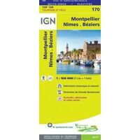 IGN Fietskaart 170 Montpellier Nîmes Camargue