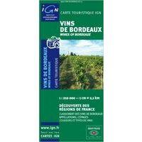 IGN Kaart Vins De Bordeaux 1:210.000
