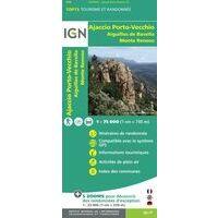 IGN Wandel- En Fietskaart Ajaccio & Porto Vecchio