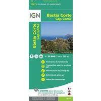 IGN Wandel- En Fietskaart Bastia & Corte