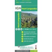 IGN Wandel- En Fietskaart Haut-Languedoc 1:75.000