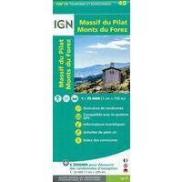 IGN Wandel- En Fietskaart Massif Du Pilat