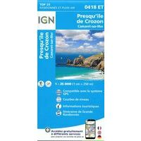IGN Wandelkaart 0418ET Presqu'île De Crozon - Camaret
