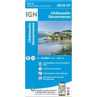 IGN Wandelkaart 0518OT Châteaulin - Douarnenez