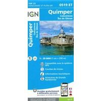 IGN Wandelkaart 0519et Quimper Concarneau