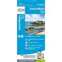 IGN Wandelkaart 1116et Saint-Malo