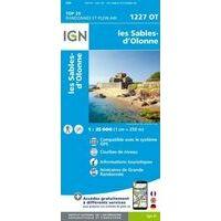 IGN Wandelkaart 1227ot Les Sables-d'Olonne
