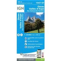 IGN Wandelkaart 1547ot Ossau - Vallée D'Aspe