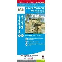 IGN Wandelkaart 2250ETR Bourg-Madame