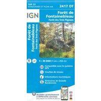 IGN Wandelkaart 2417ot Forêt De Fontainebleau
