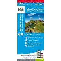 IGN Wandelkaart 2432ETR Massif Du Sancy