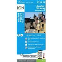 IGN Wandelkaart 2722et Avallon - Vézelay