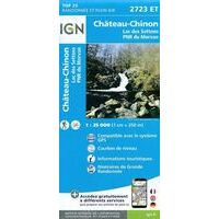 IGN Wandelkaart 2723et Château-Chinon 1:25.000