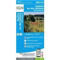 IGN Wandelkaart 2823et Saulieu - Lac Des Settons