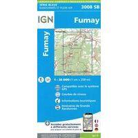 IGN Wandelkaart 3008SB Fumay