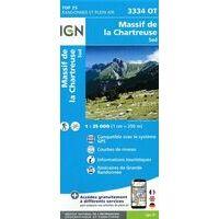 IGN Wandelkaart 3334ot Massif Chartreuse Sud