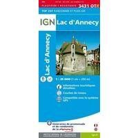 IGN Wandelkaart 3431OTR Lac D'Annecy