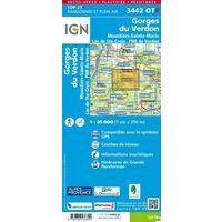 IGN Wandelkaart 3442OTR Gorges Du Verdon