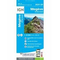IGN Wandelkaart 3531ot Megève - Col Des Aravis