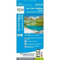 IGN Wandelkaart 3534ot Les Trois Vallees - Modane