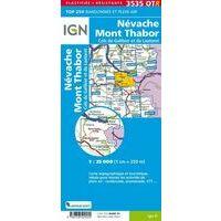 IGN Wandelkaart 3535OTR Nevache & Col Du Galibier