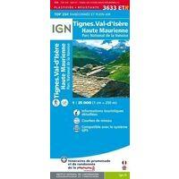 IGN Wandelkaart 3633ETR Tignes & Val D'Isere