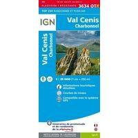 IGN Wandelkaart 3634OTR Val Cenis - Charbonnel