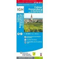 IGN Wandelkaart 3718OTR Selestat - Col Du Bonhomme